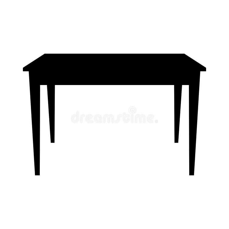 Tabellen-Schattenbild lizenzfreie abbildung