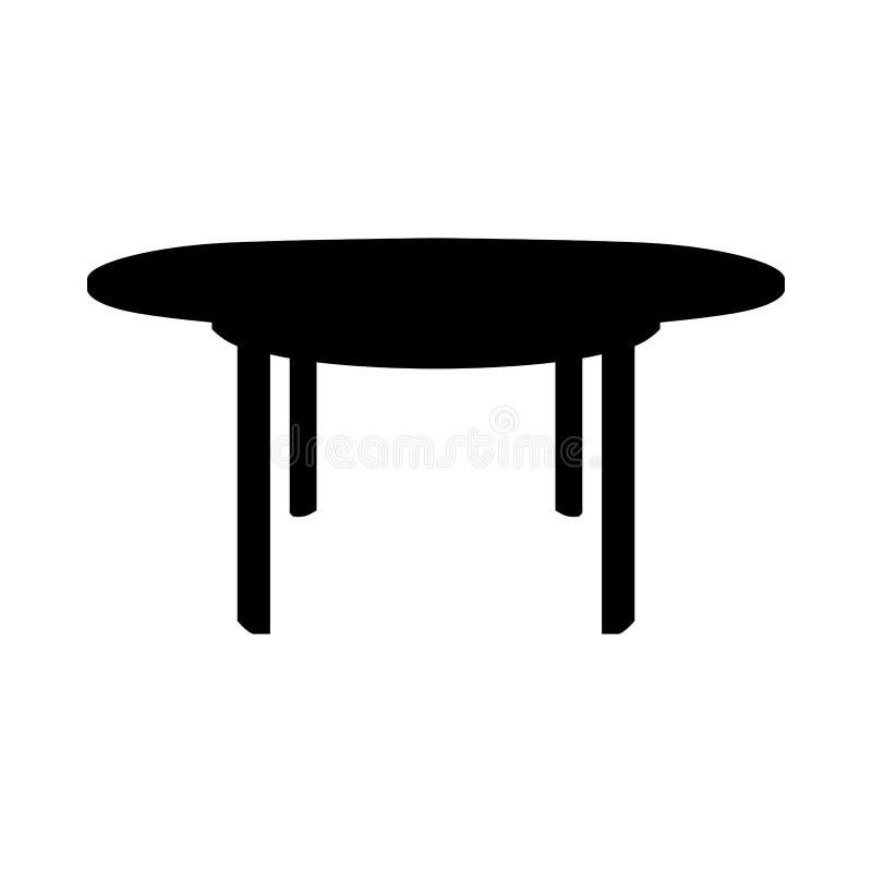 Tabellen-Schattenbild stock abbildung