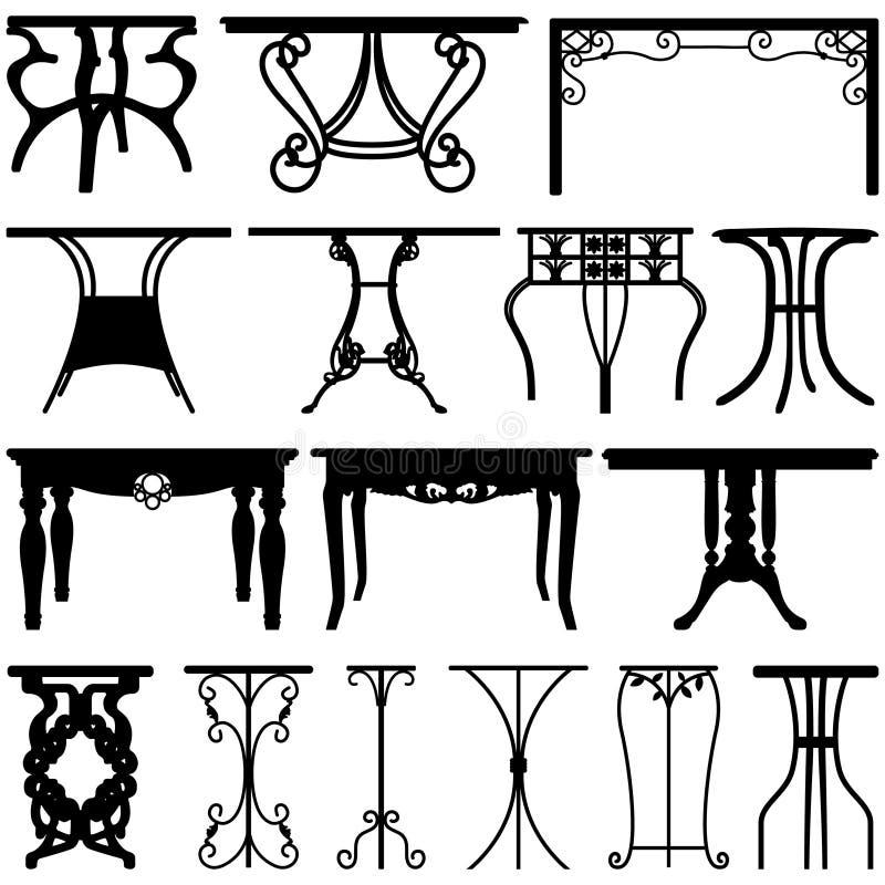 Tabellen-Schreibtisch-Ausgangsmöbel-Auslegung stock abbildung