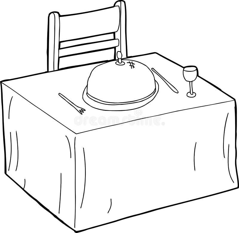 tabellenund stuhlentwurf vektor abbildung illustration