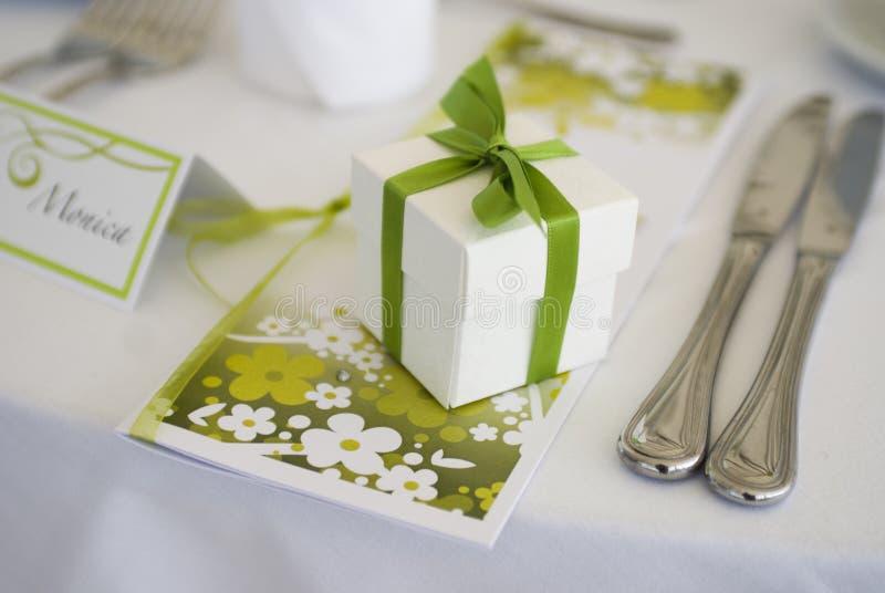 Tabellendekoration für Hochzeit lizenzfreies stockfoto