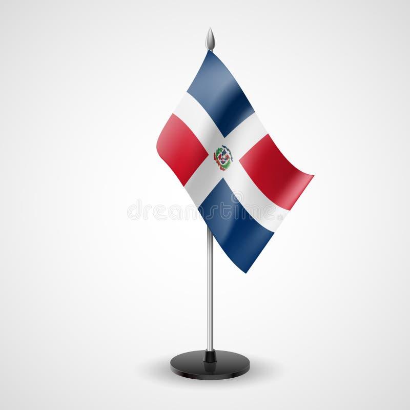 Tabellenflagge von Dominikanischer Republik lizenzfreie abbildung