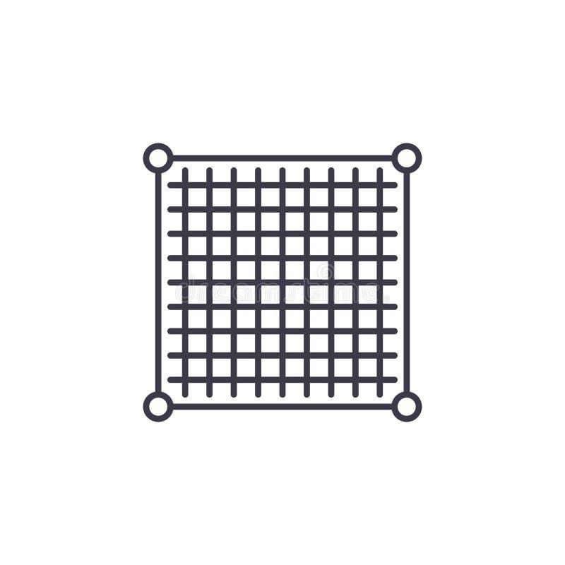 Tabellerat linjärt symbolsbegrepp för data Tabellerad datalinje vektortecken, symbol, illustration stock illustrationer