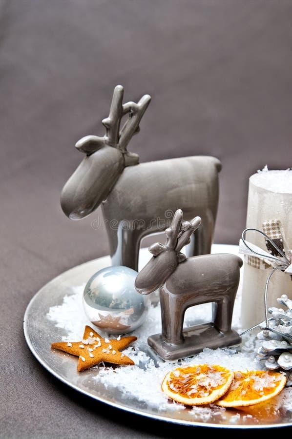 Tabellgarnering för jul royaltyfri bild