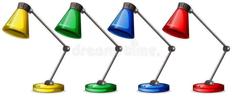 Download Tabelllampor i fyra färger vektor illustrationer. Illustration av teckning - 78730304