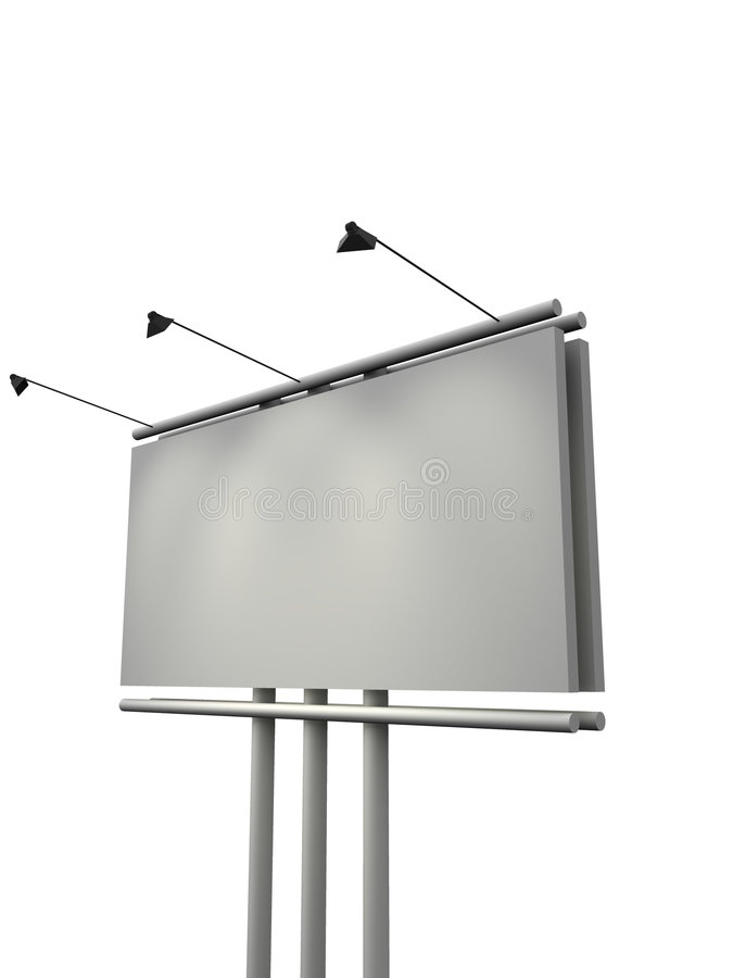 Tabellone per le affissioni. 3d illustrazione di stock