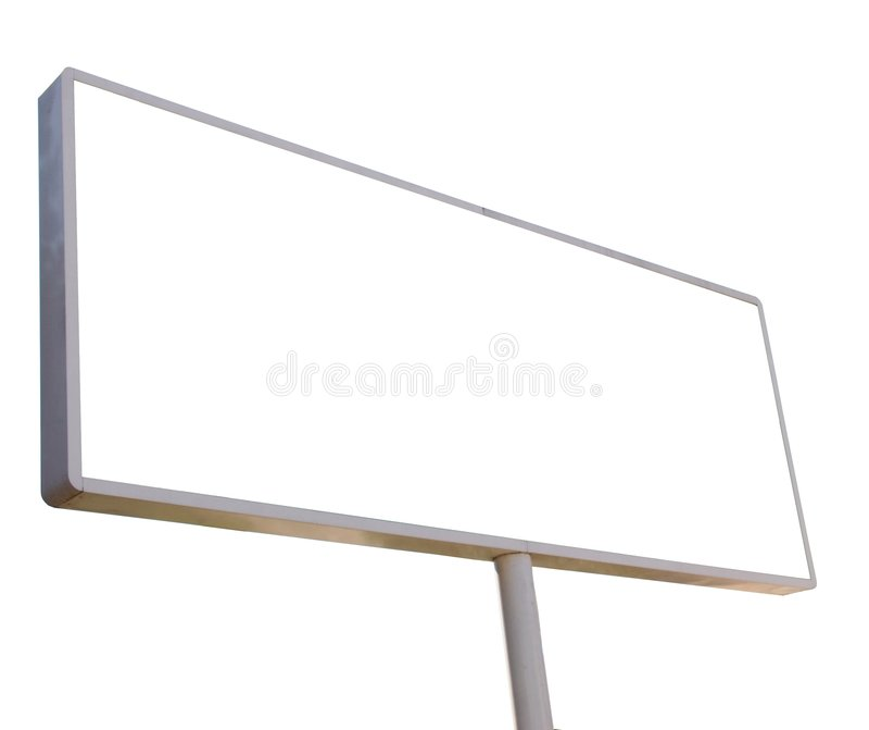 Tabellone per le affissioni illustrazione di stock