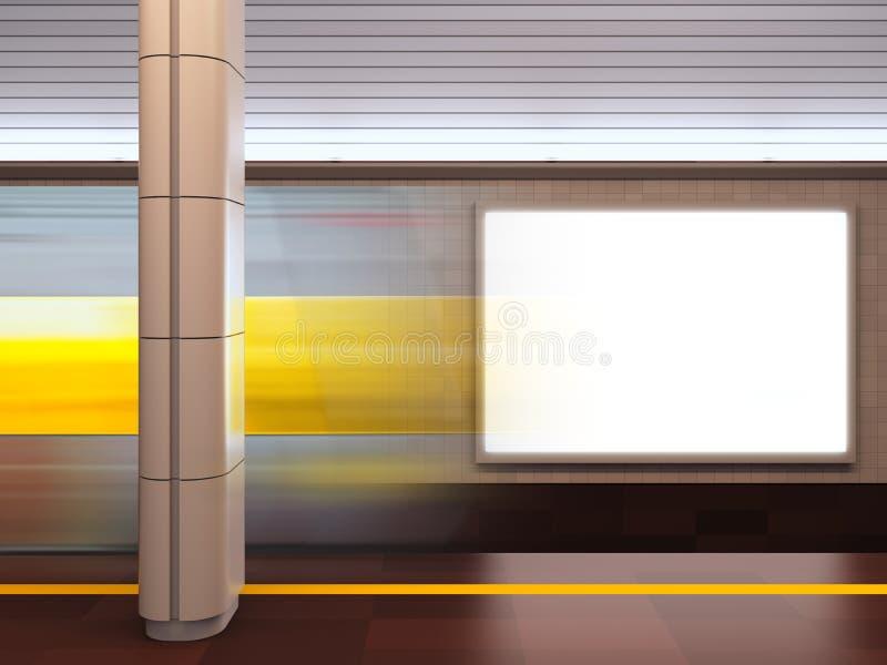 Tabellone per le affissioni alla stazione di metro. royalty illustrazione gratis
