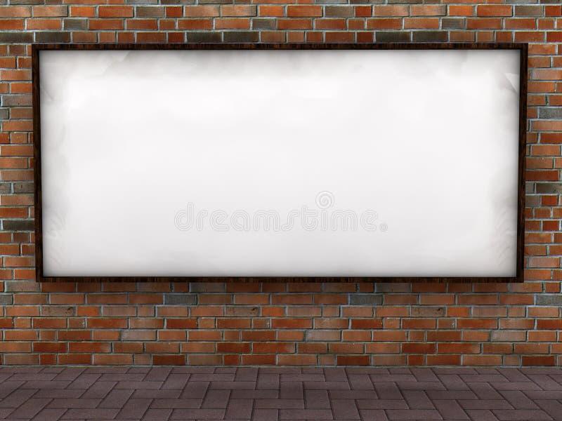 Tabellone per le affissioni in bianco illustrazione di stock