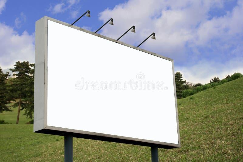 Tabellone per le affissioni in bianco II fotografia stock libera da diritti