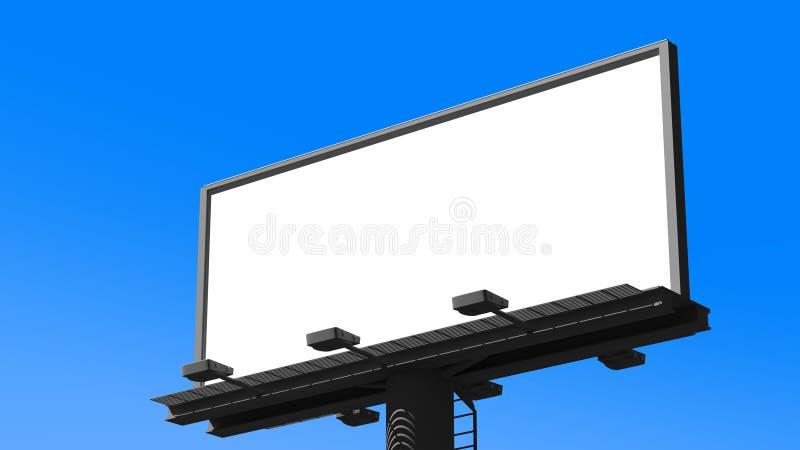 Tabellone per le affissioni in bianco rappresentazione 3d immagini stock libere da diritti