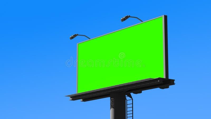 Tabellone per le affissioni in bianco rappresentazione 3d immagine stock