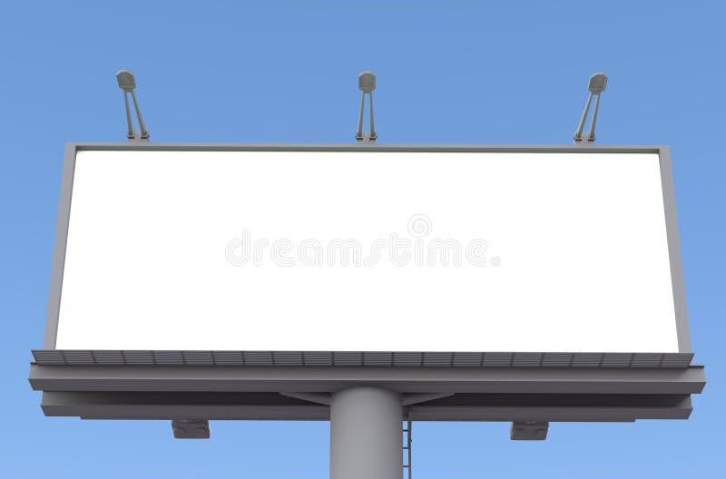 Tabellone per le affissioni in bianco rappresentazione 3d fotografie stock