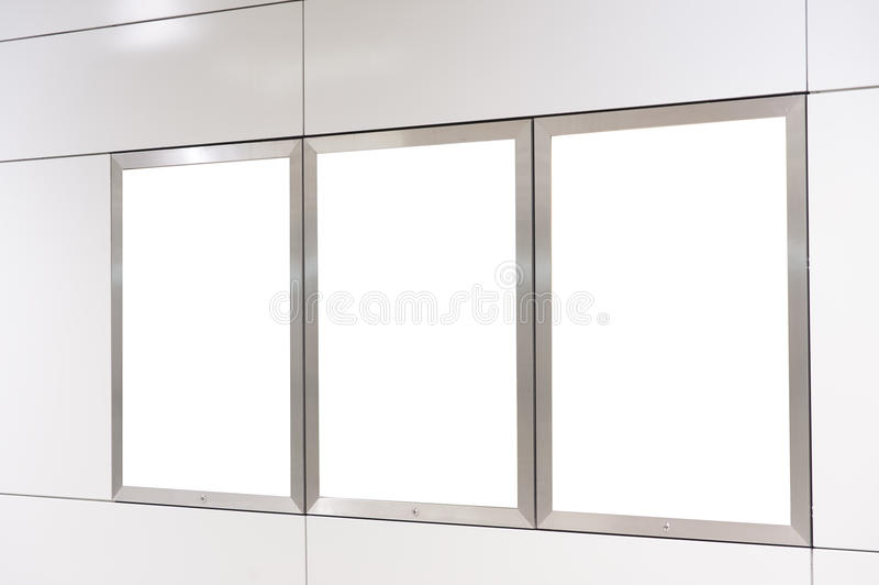 Tabellone per le affissioni bianco vuoto fotografia stock