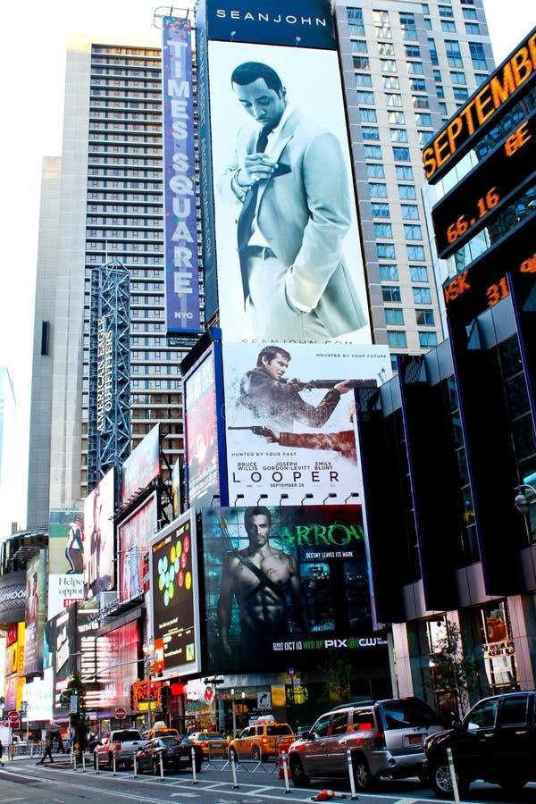 Tabellone per le affissioni del Sean John, Times Square, NYC. fotografie stock libere da diritti