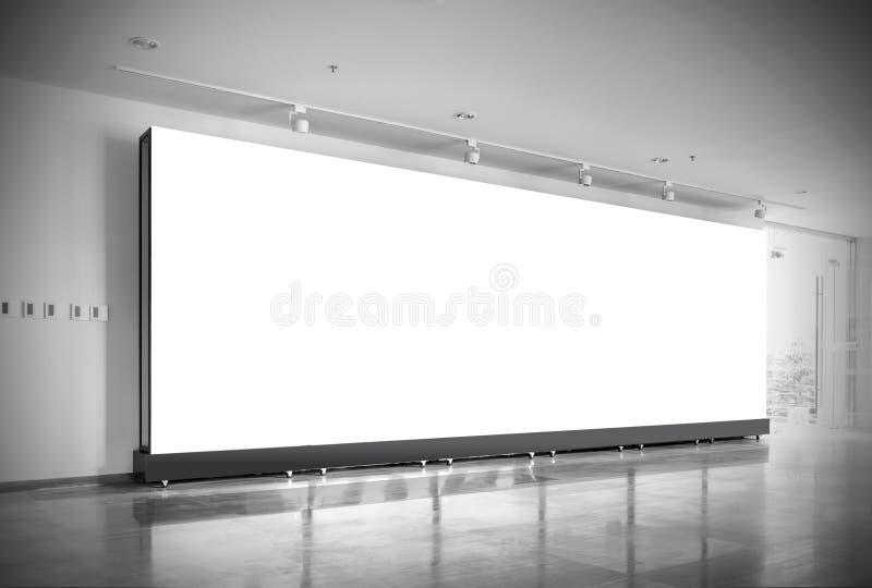 Tabellone per le affissioni dello spazio in bianco della stazione della metropolitana di Corridoio fotografia stock