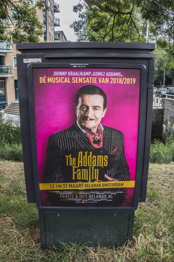 Tabellone per le affissioni di Centercom la famiglia di Addams al 2018 olandese fotografie stock