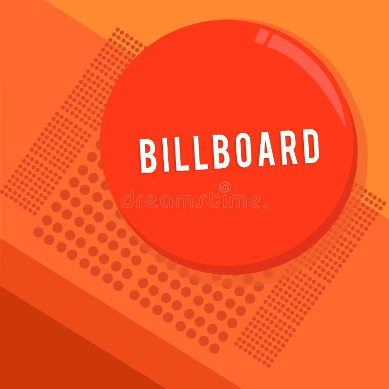 Tabellone per le affissioni di rappresentazione del segno del testo Grande bordo all'aperto della foto concettuale per la visuali royalty illustrazione gratis