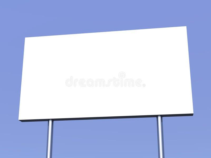 Tabellone per le affissioni e cielo vuoti nei precedenti illustrazione di stock