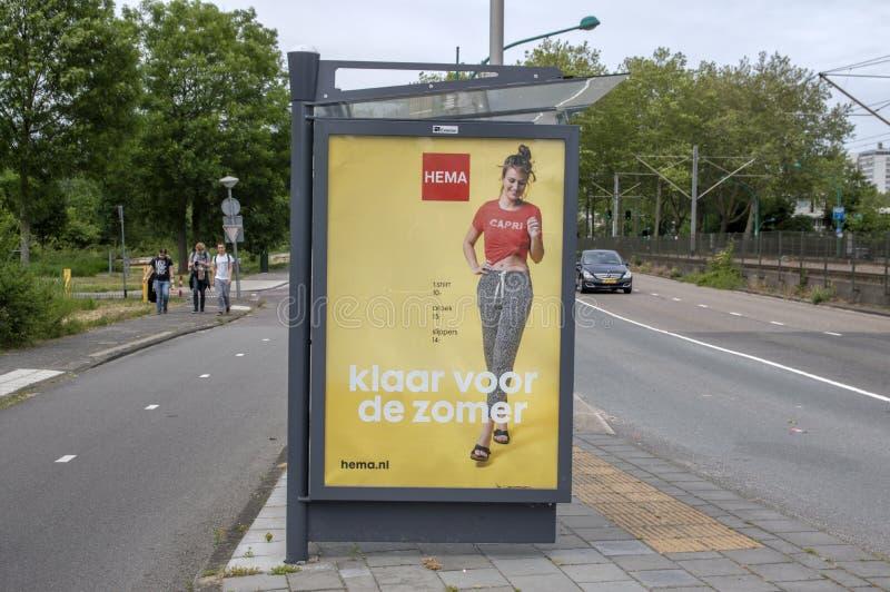 Tabellone per le affissioni HEMA At Amstelveen The Netherlands 2019 fotografia stock libera da diritti