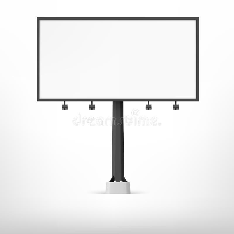 Tabellone per le affissioni nero in bianco, illustrazione di vettore illustrazione di stock