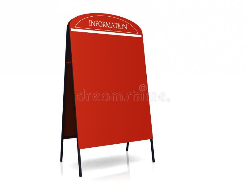 Tabellone per le affissioni rosso illustrazione vettoriale