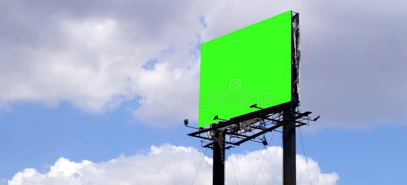 Tabellone per le affissioni verde dello schermo fotografie stock libere da diritti