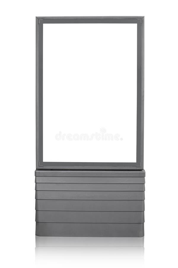 Tabellone per le affissioni verticale in bianco fotografia stock libera da diritti