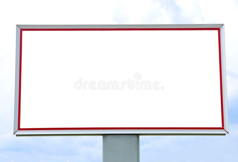 Tabellone per le affissioni vuoto immagine stock