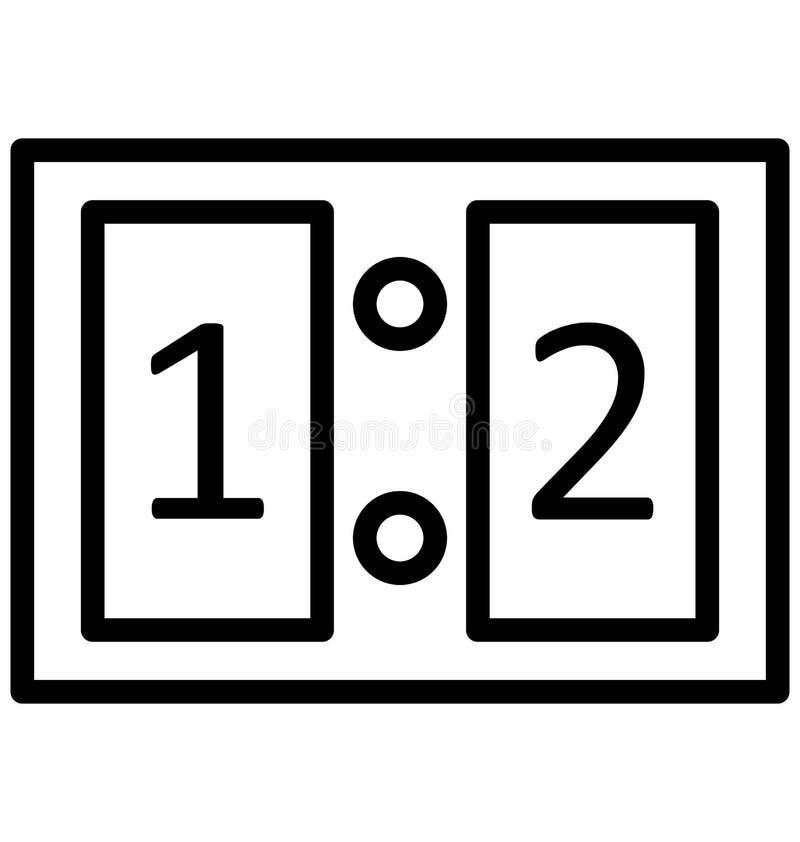 Tabellone segnapunti, vettore di conteggi che può essere modificato o pubblicare facilmente royalty illustrazione gratis