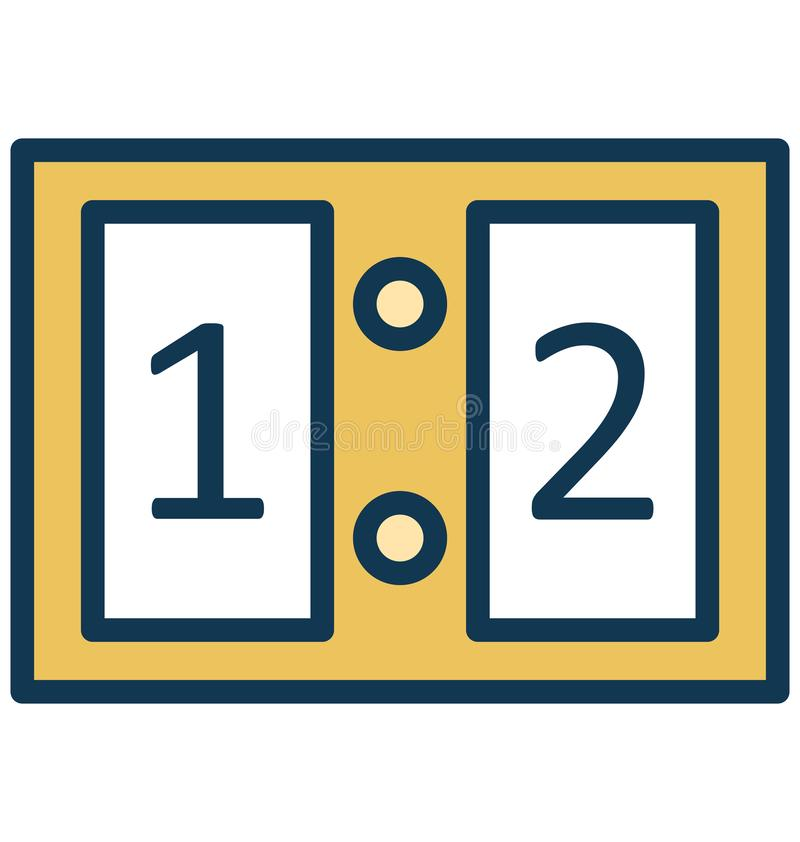 Tabellone segnapunti, vettore di conteggi che può essere modificato o pubblicare facilmente illustrazione vettoriale