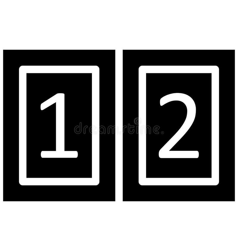 Tabellone segnapunti, vettore di conteggi che può essere modificato o pubblicare facilmente illustrazione di stock