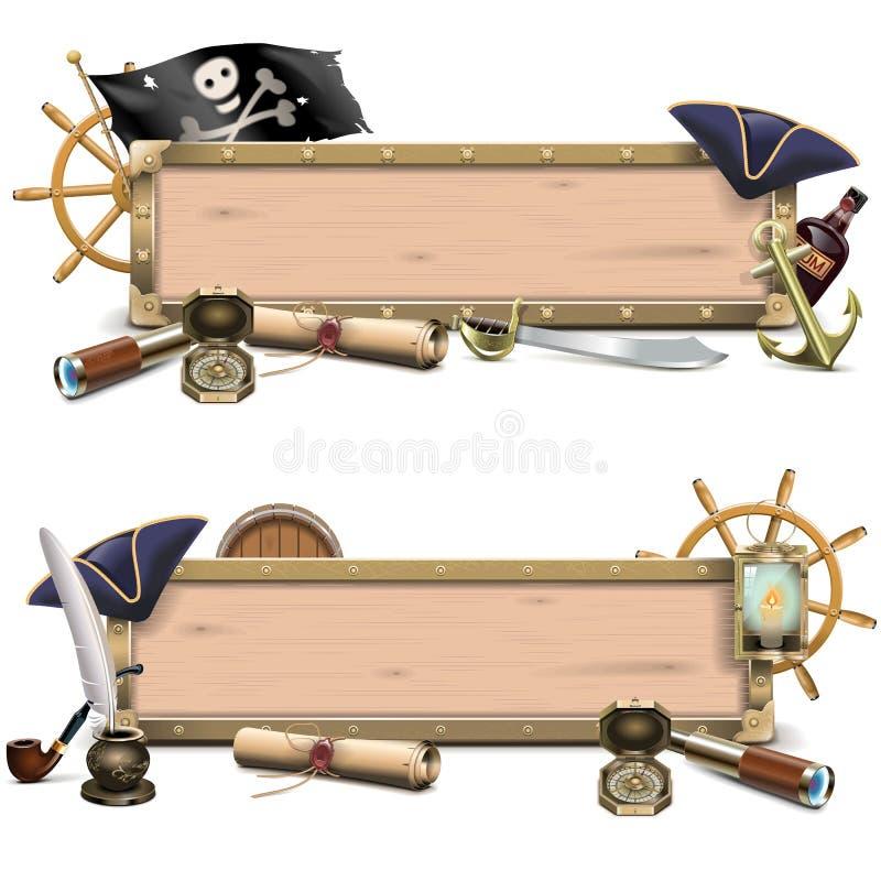 Tabelloni per le affissioni del pirata di vettore royalty illustrazione gratis