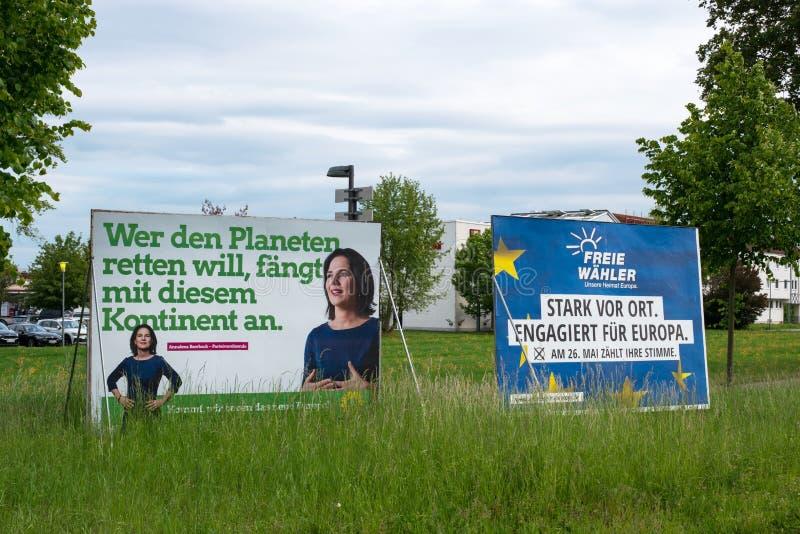 Tabelloni per le affissioni di campagna elettorale per la nona elezione al Parlamento Europeo 2019 in Germania fotografie stock
