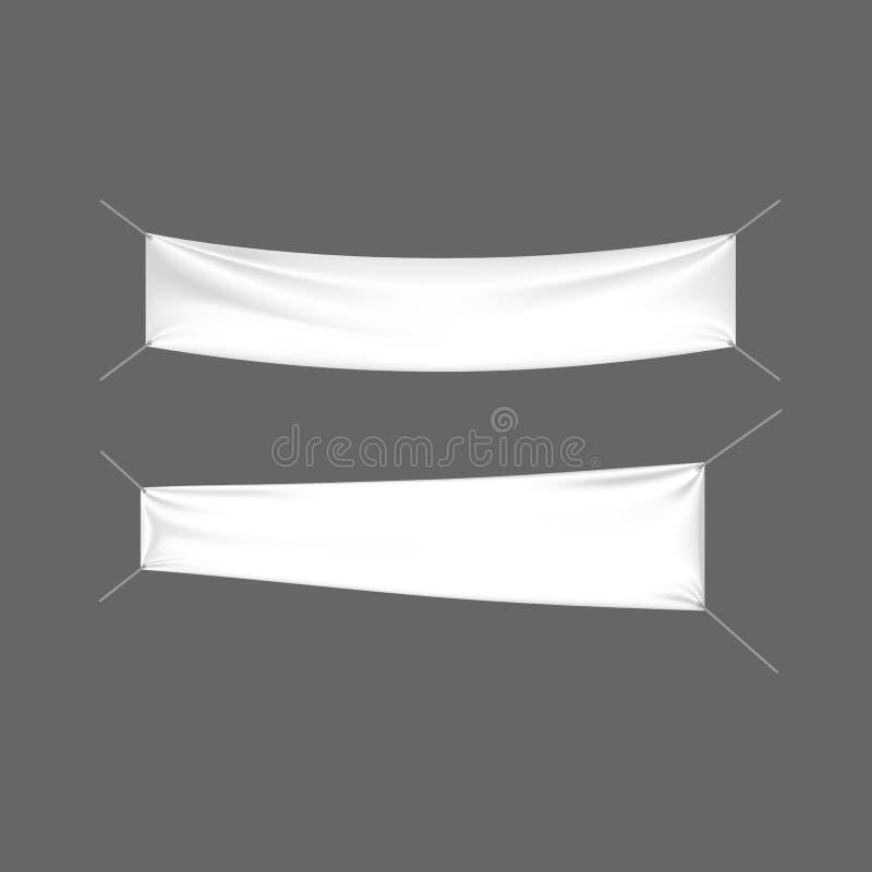 Tabelloni per le affissioni realistici, bandiere e pubblicità all'aperto Segni al minuto, supporto del modello illustrazione vettoriale