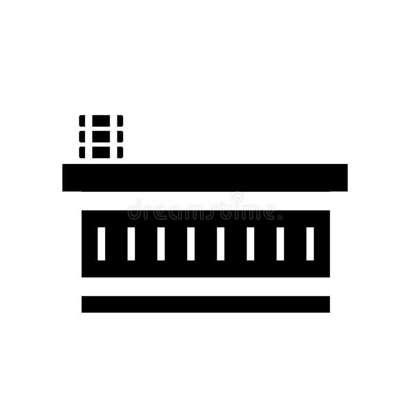 Tabellsymbolsvektor som isoleras på vit bakgrund, tabelltecken, konstruktionssymboler stock illustrationer