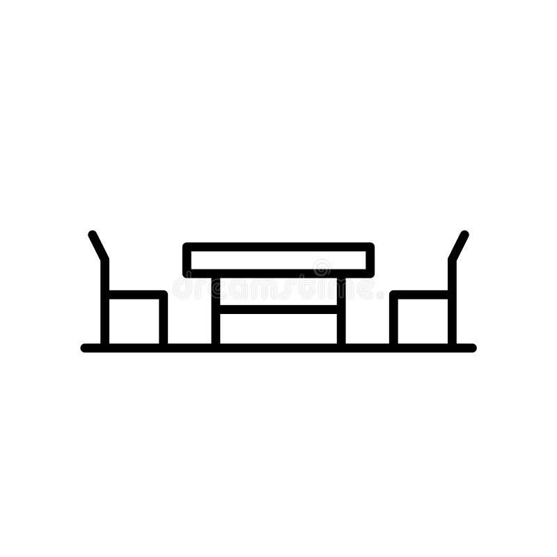 Tabellsymbolsvektor som isoleras på vit bakgrund, tabelltecken, tunn linje designbeståndsdelar i översiktsstil royaltyfri illustrationer