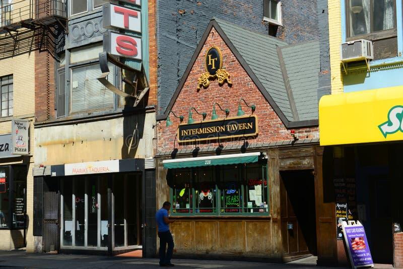 Taberna de la interrupción en la calle de Tremont, Boston foto de archivo libre de regalías