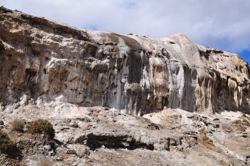 Taberna desert,Spain. Tabernas desert with rare surface stalactite royalty free stock photo