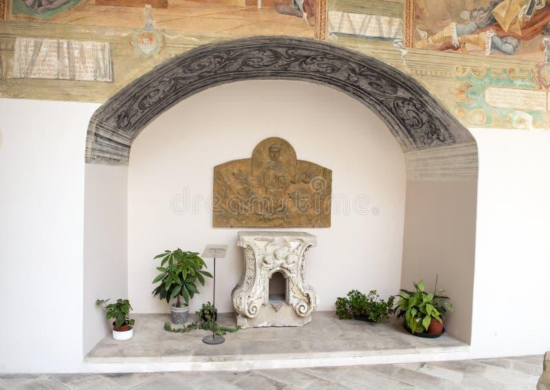 Tabernacolo Altare Maggiore, bazyliki Di Santa Caterina d ` Alessandria, Galatina, Włochy fotografia stock