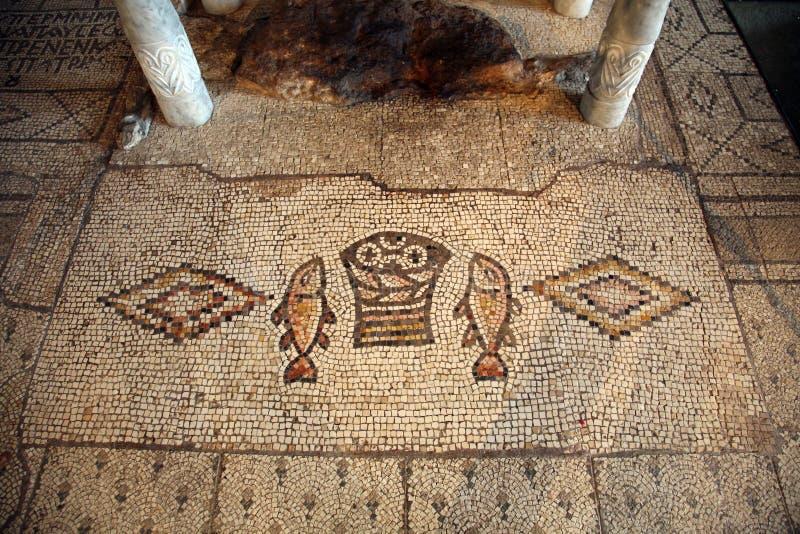 Tabgha Mosaic Stock Image Image Of Christianity Church