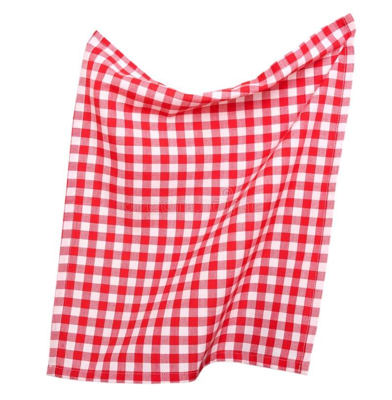 Tabkecloth ha isolato Asciugamano di picnic fotografie stock libere da diritti