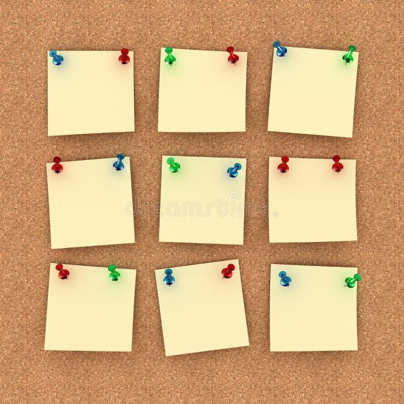 Tablón de anuncios imágenes de archivo libres de regalías