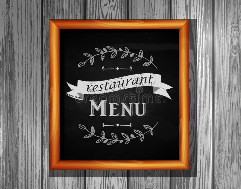 Tablón de anuncios del menú del restaurante del tablero del menú del restaurante ilustración del vector