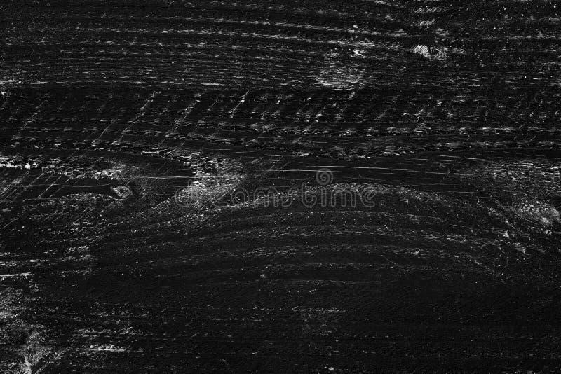 Tablón de madera de la pizarra, detalle de la superficie material de madera negra de la textura imagen de archivo libre de regalías