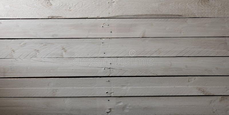 Tablón de madera pintado viejo blanco imagenes de archivo