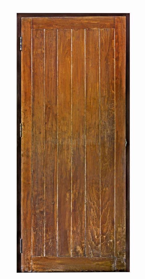 Tablón de madera viejo de la textura de la puerta en fondo aislado imágenes de archivo libres de regalías