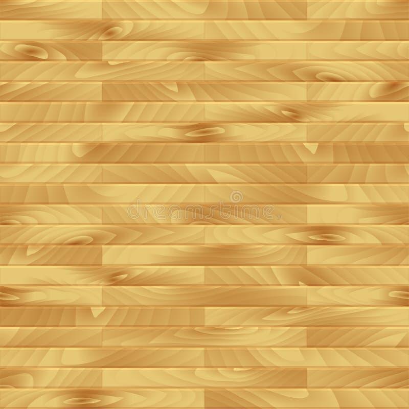 Tablón inconsútil de madera del vector stock de ilustración