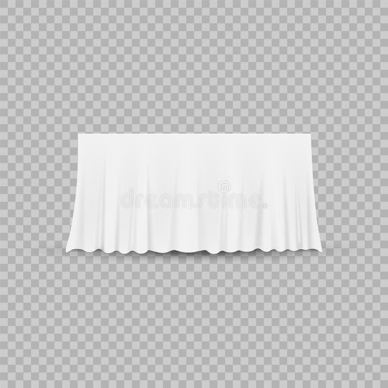 Tabla con el mantel aislado en un fondo transparente Ilustración del vector stock de ilustración