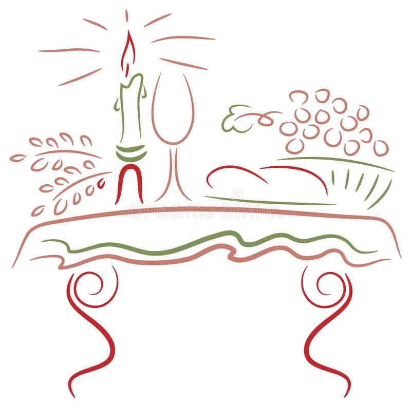 Tabla de comunión ilustración del vector